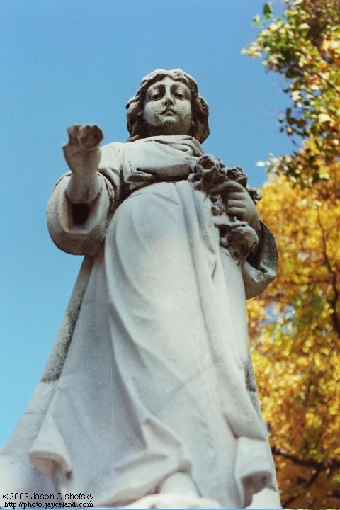 Monument in Mount Hope Cemetery in Rochester, New York